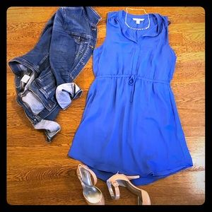 LC Lauren Conrad Dresses - Lauren Conrad Sapphire Blue Sleeveless Dress
